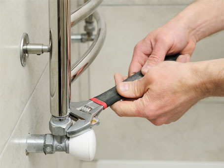 Plumber Sets Valve Towel Warmer